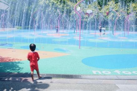 Water Play at Children's Garden